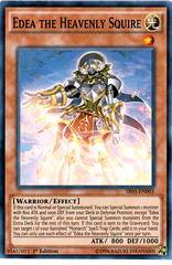 Edea the Heavenly Squire - SR01-EN003 - Super Rare - 1st Edition on Channel Fireball