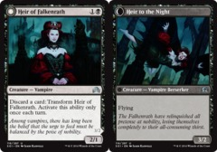 Heir of Falkenrath // Heir to the Night - Foil