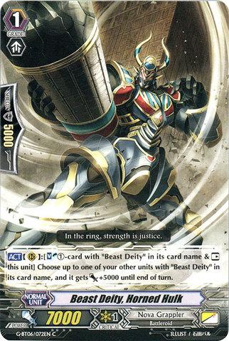 Beast Deity, Horned Hulk - G-BT06/072EN - C
