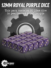 12mm Royal Purple Dice x20