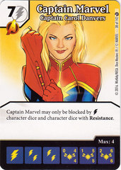 Captain Marvel - Captain Carol Danvers (Die & Card Combo)