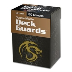 BCW - Deck Guard - Matte - 80 boxed - Brown