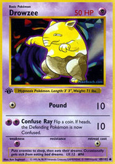 Drowzee - 49/102 - Common - 1st Edition