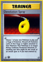 Devolution Spray - 72/102 - Rare - 1st Edition