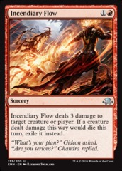 Incendiary Flow on Channel Fireball