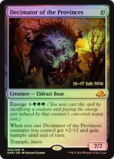 Decimator of the Provinces - Foil - Prerelease Promo