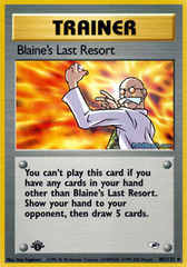 Blaine's Last Resort - 105/132 - Uncommon - 1st Edition
