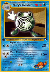 Misty's Poliwhirl - 53/132 - Uncommon - 1st Edition