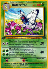 Butterfree - 33/64 - Uncommon - 1st Edition