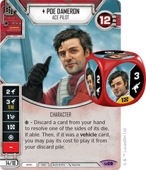 Poe Dameron - Ace Pilot (Sold with matching Die)