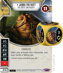 Jabba the Hutt - The Great and Might (Sold with matching Die)