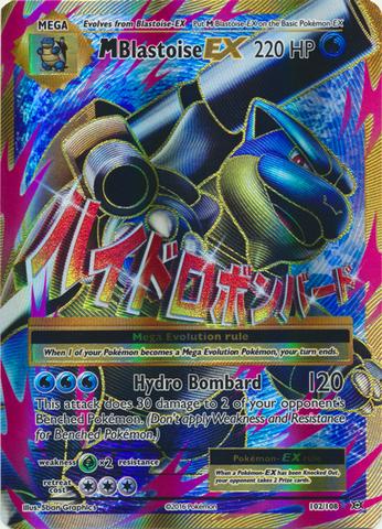 Mega-Blastoise-EX - 102/108 - Full Art Ultra Rare