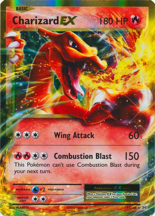 Charizard Ex 12 108 Holo Rare Ex Pokemon Card