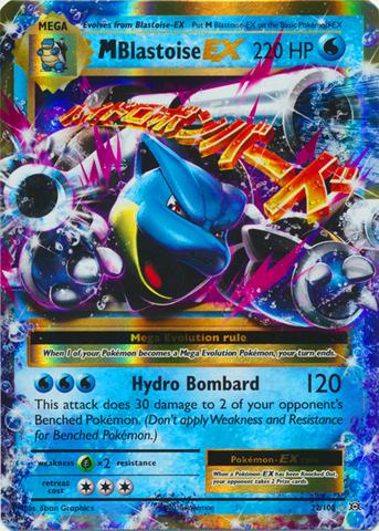 Mega blastoise ex 22 108 holo rare ex pokemon - Pokemon mega evolution ex ...