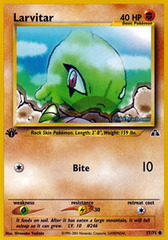 Larvitar - 57/75 - Common - 1st Edition