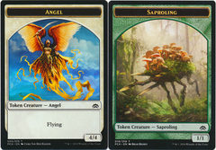 Angel Token // Saproling Token on Channel Fireball