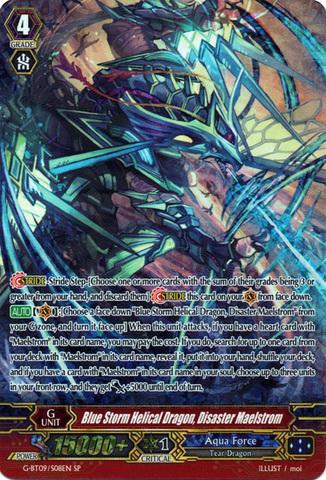 Blue Storm Helical Dragon, Disaster Maelstrom - G-BT09/S08EN - SP