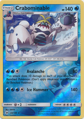 Crabominable - 43/149 - Rare - Reverse Holo