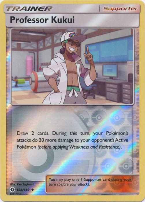 Professor Kukui - 128/149 - Uncommon - Reverse Holo