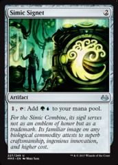 Simic Signet - Foil on Channel Fireball