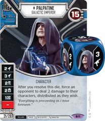 Palpatine - Galactic Emperor (sold w/ matching die)