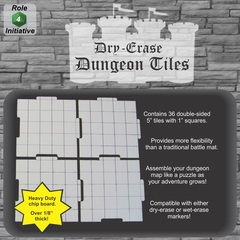 Role 4 Initiative - Dry Erase 5 inch Dungeon Tiles  - Pack of 36