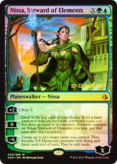 Nissa, Steward of Elements - Foil - Prerelease Promo