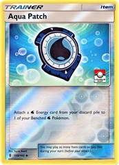 Aqua Patch  - 119/145  - Reverse Holo - 2017 Pokemon League Stamped Promo