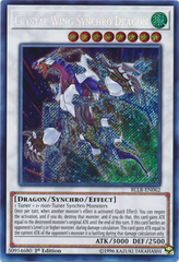 Crystal Wing Synchro Dragon - BLLR-EN062 - Secret Rare - 1st Edition on Channel Fireball