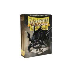 Matte Black - Standard Boxed Sleeves (Dragon Shield) - 60 ct