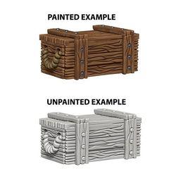 Deep Cuts Unpainted Miniatures - Crates