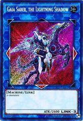 Gaia Saber, the Lightning Shadow - COTD-EN051 - Secret Rare - Unlimited Edition