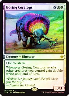 Goring Ceratops (Ixalan Prerelease Foil)