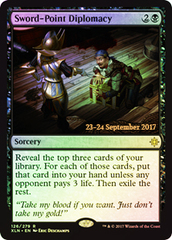 Sword-Point Diplomacy - Foil - Prerelease Promo