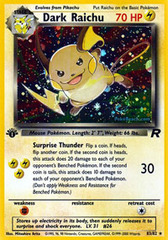 Dark Raichu - 83/82 - Secret Rare - 1st Edition