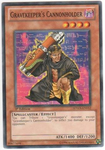 Gravekeeper's Cannonholder - SDMA-EN012 - Common - 1st Edition