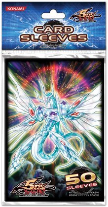 5Ds Yugioh Trading Card Game Konami Majestic Star Dragon 50 ct Sleeves