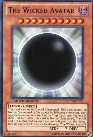 The Wicked Avatar - CT07-EN023 - Super Rare - Limited Edition