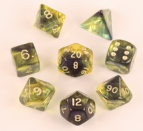 Firefly Blue Polyhedral Dice Set (7)
