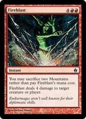 Fireblast - Foil on Channel Fireball