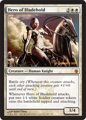 Hero of Bladehold (Mirrodin Besieged Prerelease) on Channel Fireball