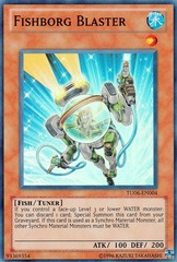 Fishborg Blaster - TU06-EN004 - Super Rare - Promo Edition on Channel Fireball