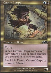 Cavern Harpy - Foil on Channel Fireball