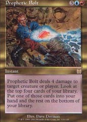 Prophetic Bolt - Foil on Channel Fireball