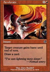 Accelerate - Foil on Channel Fireball