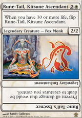 Rune-Tail, Kitsune Ascendant - Foil on Channel Fireball