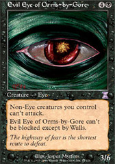 Evil Eye of Orms-by-Gore - Foil