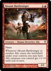 Akoum Battlesinger - Foil on Channel Fireball
