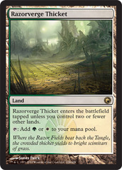 Razorverge Thicket - Foil on Channel Fireball