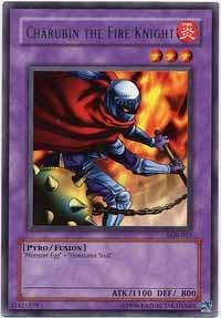 Charubin the Fire Knight - LOB-015 - Rare - Unlimited Edition